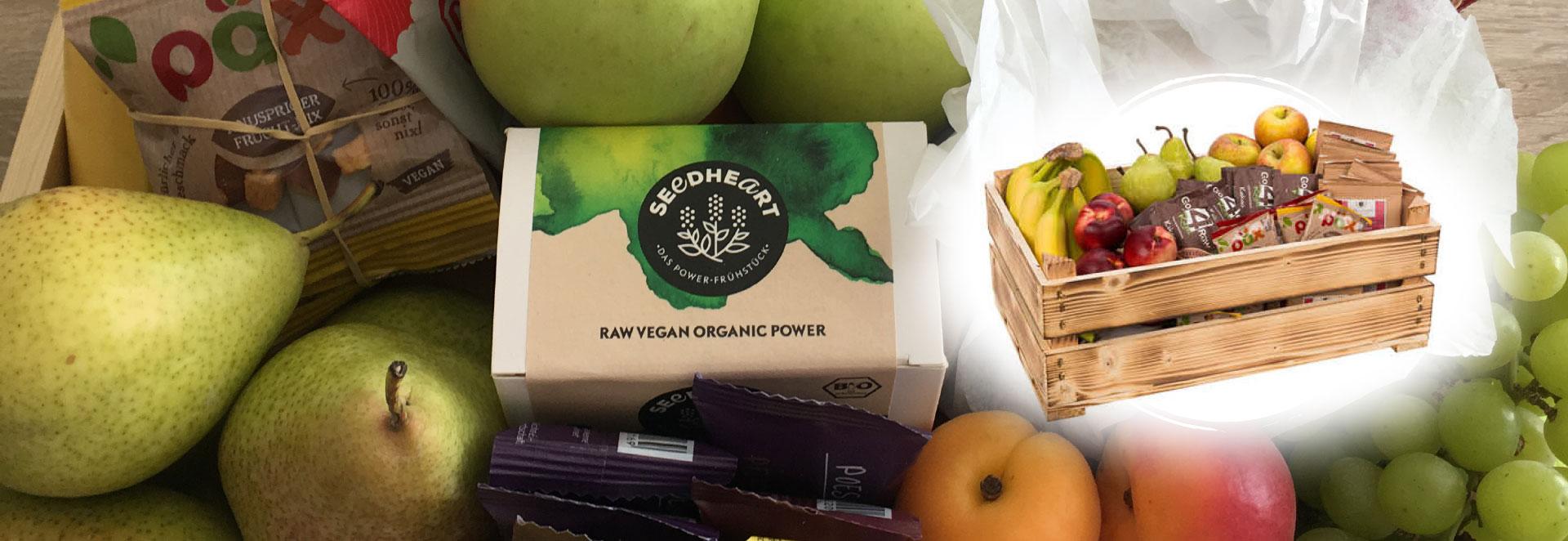 Gesunde Snacks und frisches Obst fürs Büro