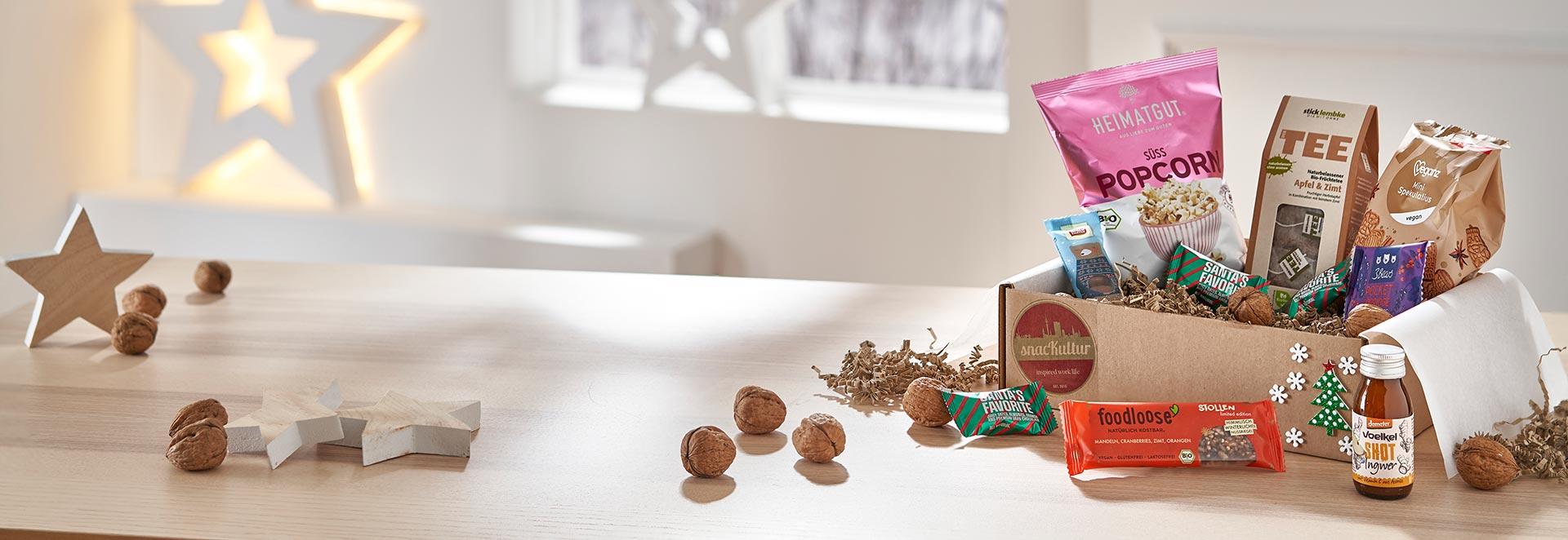 snacKultur - gesunde Snackboxen zu Weihnachten